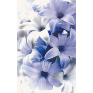 wenskaart zonder tekst met paarse bloemen