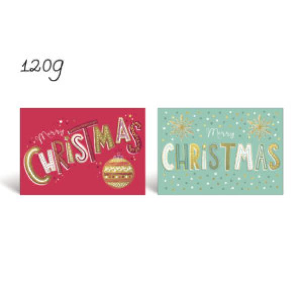 Kerstdoos luxe met 8 kaarten en enveloppen, 24 doosjes in omdoos