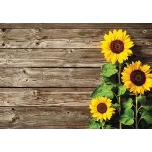 Wenskaart zonder tekst met zonnebloemen