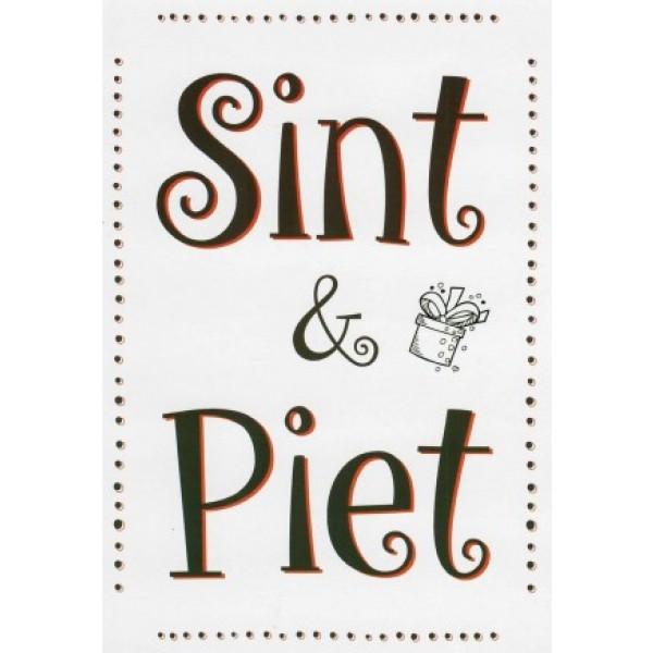 Wenskaart Sint en Piet
