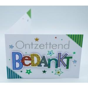 Wenskaart Laura's Secret 3D ontzettend bedankt in sierlijke en kleurige 3D-letters