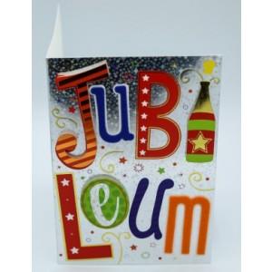Wenskaart Laura's Secret 3D ontzettend jubileum in sierlijke en kleurige 3D-letters