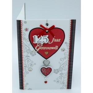 Wenskaart Laura's Secret 3D 12,5 jaar getrouwd rood hart