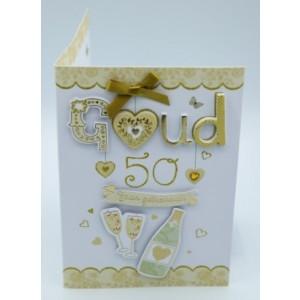 Wenskaart Laura's Secret 3D 50 jaar getrouwd goud