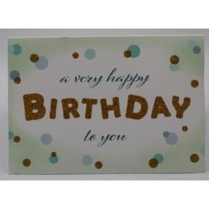 """Adios wenskaart felicitatie met de tekst """"a very happy birthday to you"""""""