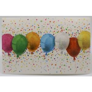 Adios wenskaart zonder tekst met gekleurde ballonnen