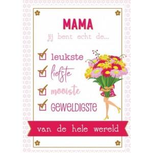 Wenskaart moederdag checklist