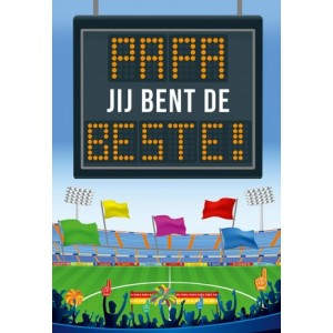 Wenskaart Vaderdag met de tekst Voor de liefste mama met de afbeelding van een stadion