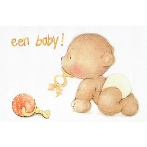 Luxe wenskaart uit de serie Baby Bear