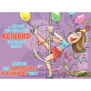 Wenskaart luxe humor gekleurde binnendruk