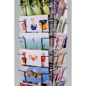 Molen display blanco ansichtkaarten