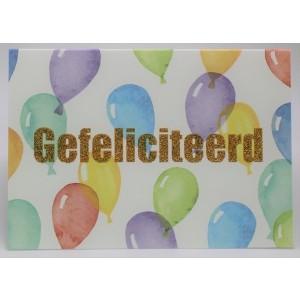 Adios wenskaart felicitatie met allerlei vrolijk gekleurde ballonnen