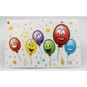 Adios wenskaart zonder tekst ballonnen