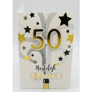 Adios wenskaart 50 jaar, hartelijk gefeliciteerd