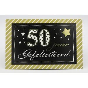Adios wenskaart 50 jaar, gefeliciteerd