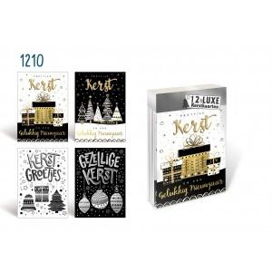 Kerstdoos 12 kaarten 1210